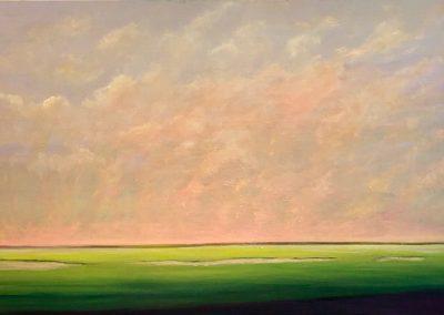 Green Fields - 24 x 36 - Oil on Canvas