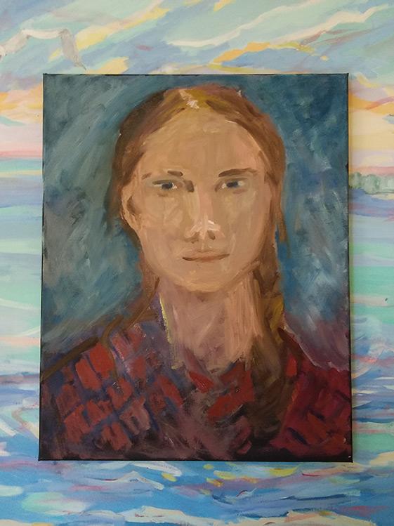 Greta - 28 x 22 - Oil on Canvas