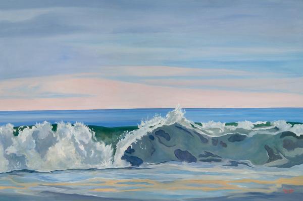 Jumbo Advancing Atlantic - 48 x 72 - Oil on Canvas