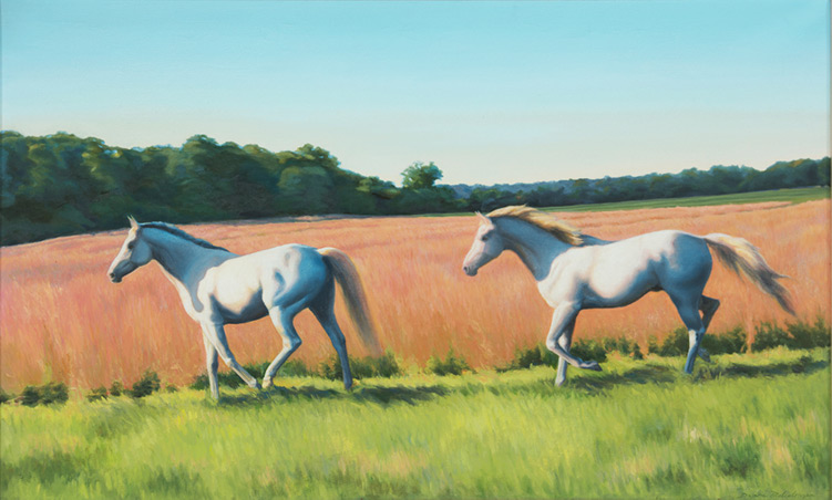 Monarch and Dewey - 54 x 36 - Oil on Canvas