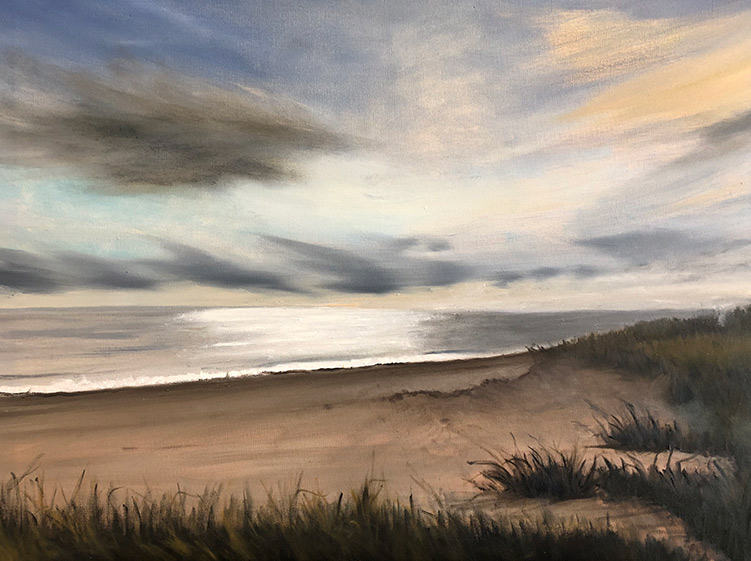 Sand and Water - 24 x 30 - Oil on Canvas