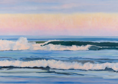 Wide Clean Wave - 48 x 72 - Oil on Canvas