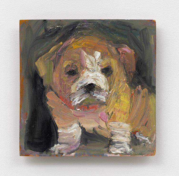Wrinkles in Square - 12 x12 - oil on wood