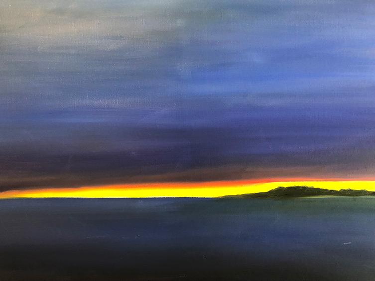 Yellow Streak - 24 x 36 - Oil on Canvas