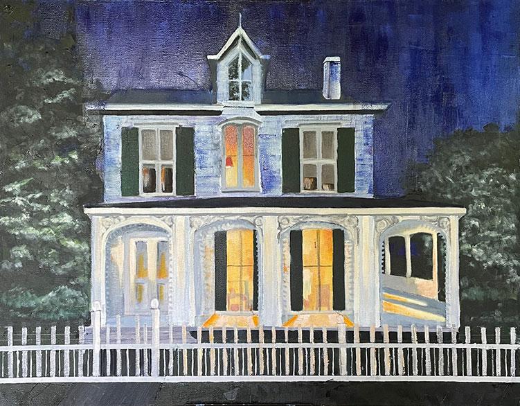 Main Street, East Hampton, James Arrowsmith House - 28 x 22 - Oil on Canvas