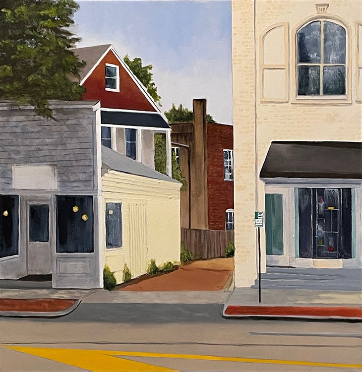 Newtown Lane, East Hampton - 24 x 24 - Oil on Canvas