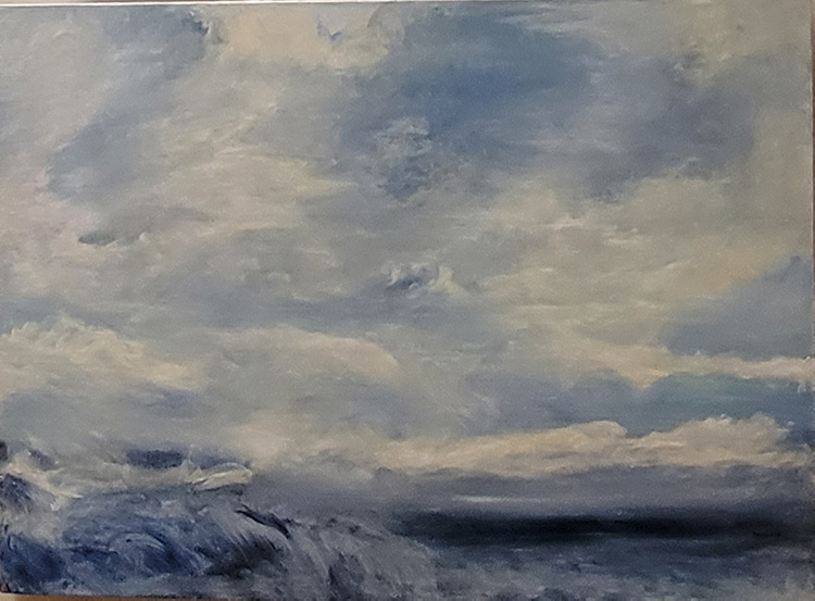 In the Ocean - 22 x 30 - Oil on Wood