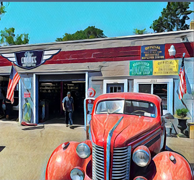 Old Red Truck - Digital Print