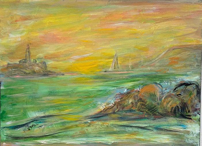 Lighthouse - 18 x 24 - acrylic on canvas