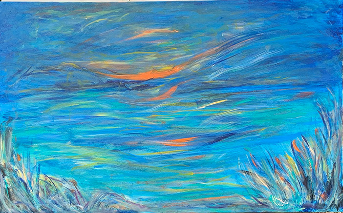 Sunset - 30 x 48 - acrylic on canvas