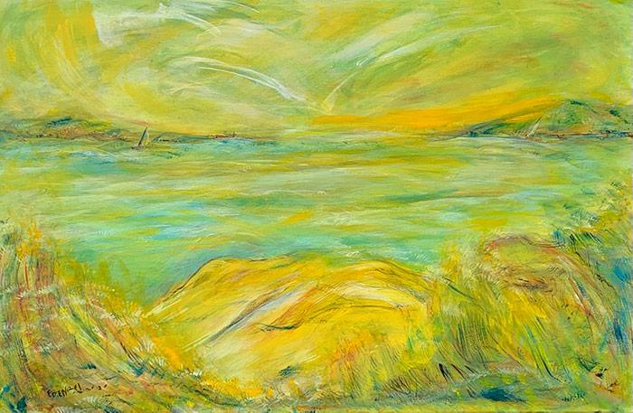 The Sound - 24 x 36 - acrylic on canvas